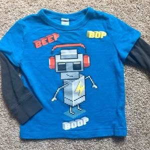 Gap kids 18-24mo robot long sleeve T-shirt. EUC
